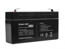 Batéria AGM Green Cell 6V 1,3Ah 97×24×51mm 0,27kg