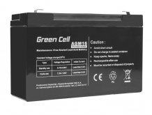Batéria AGM Green Cell 6V 10Ah 151×50×100mm 1,50kg